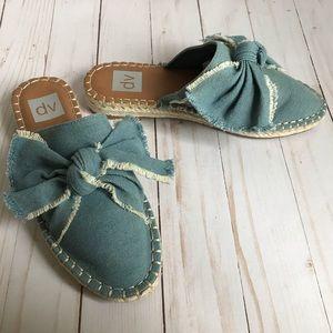 Dolce Vita dv Blue Denim Mule Espadrille Sandals